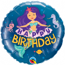"Birthday Mermaid Foil Balloon (9"" Air-Fill) 1pc"